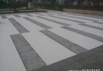 透水胶粘石广场